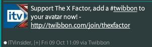 Twibbon has the X-Factor